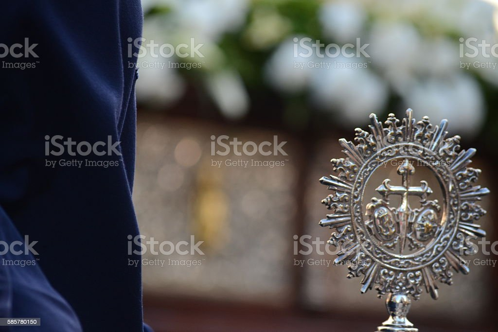 Nazarene in a procession stock photo