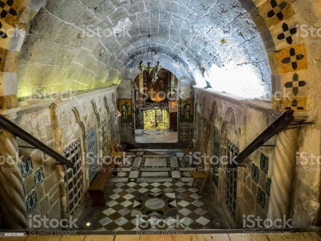 Nazareth, Israel - Greek Orthodox Church of the Annunciation stock photo