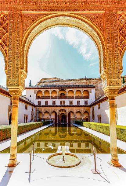 Palacio Nazaries, Alhambra, Granada, Spain GRANADA,SPAIN - OCTOBER 17,2012 : Palacio Nazaries, Alhambra, Granada, Spain palace of charles v stock pictures, royalty-free photos & images