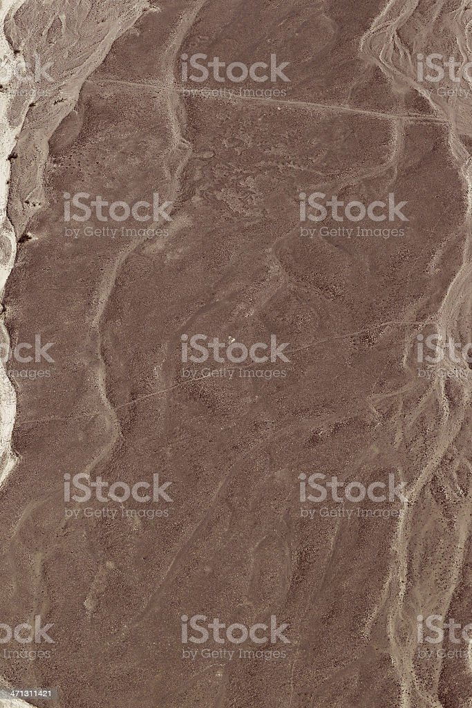 Nazca Lines - Extraterrestrial royalty-free stock photo