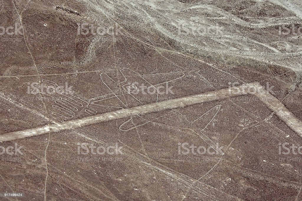 Nazca Lines image if Whale stock photo