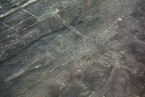 Nazca-Linien-Bild von einem Kolibri – Foto