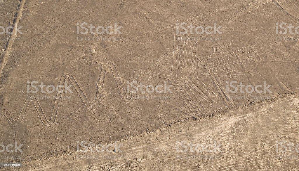 Nazca Lines Peruvian Desert royalty-free stock photo