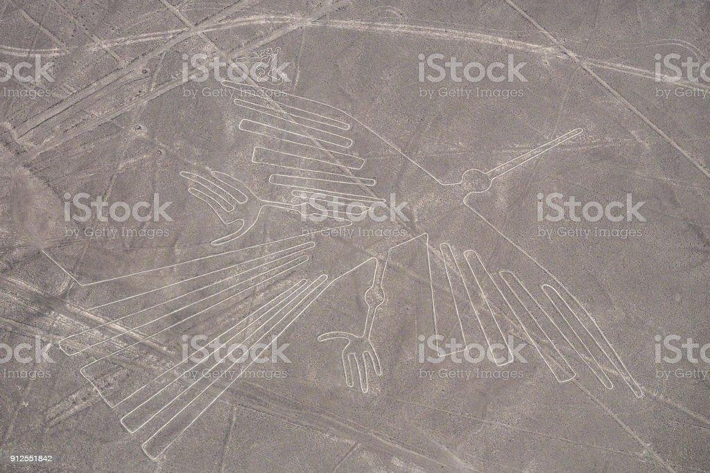 Nazca Linien - die Condor - Wahrzeichen von Peru. – Foto