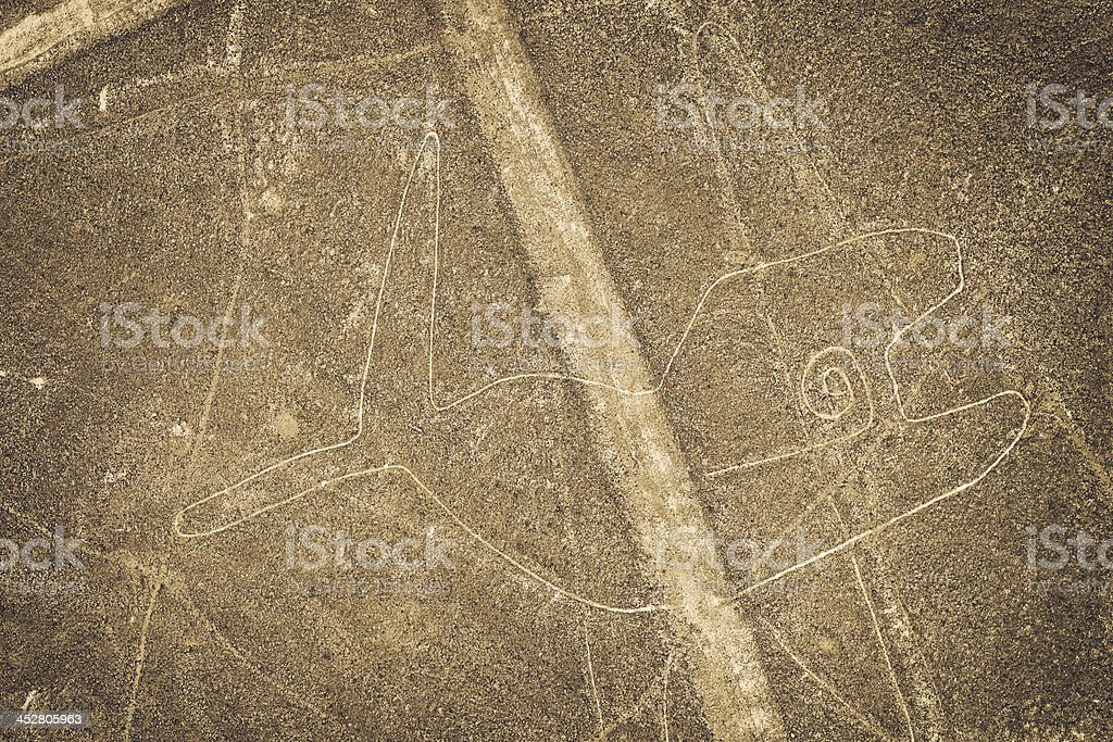 Nazca Lines - Whale royalty-free stock photo