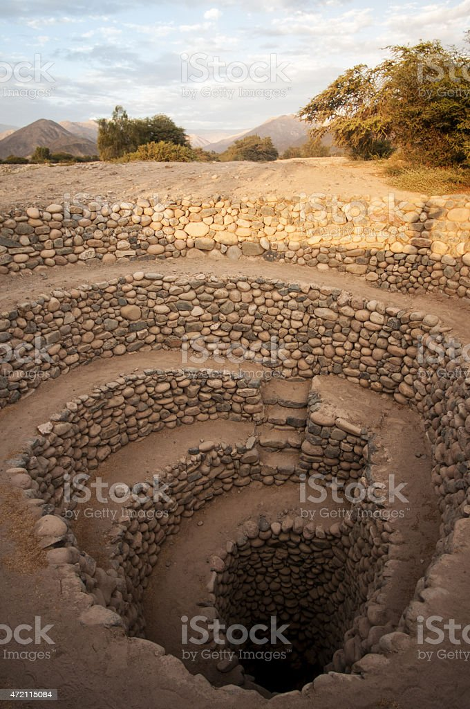 Nazca Wells stock photo