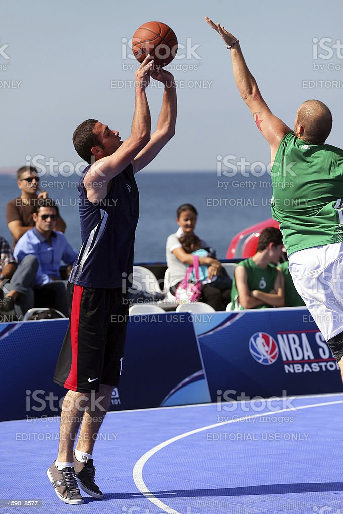 De básquetbol de la nba 3 x tour players - foto de stock
