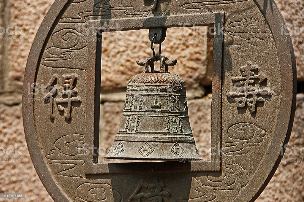 Аncient chinese bell stock photo