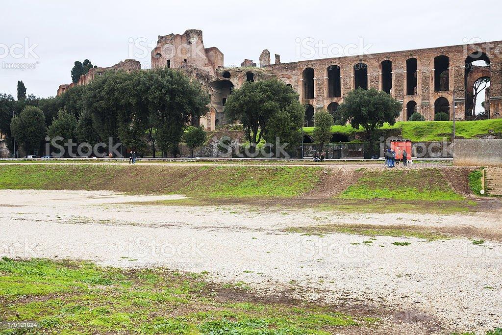 ncient Palatine and ground of Circus Maximus stock photo