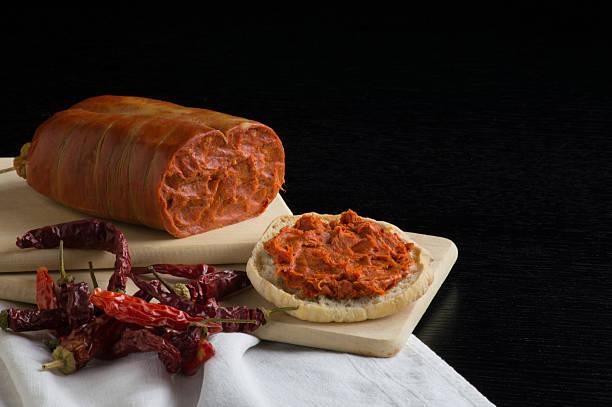nduja, italiano Salame tipico della Calabria - foto stock