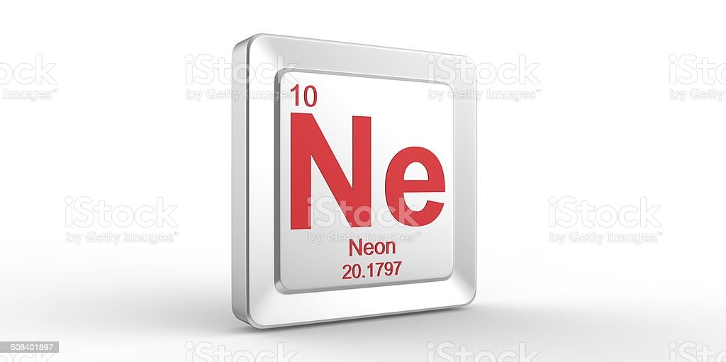 Ne Symbol 10 Material For Neon Chemical Element Stock Photo Istock