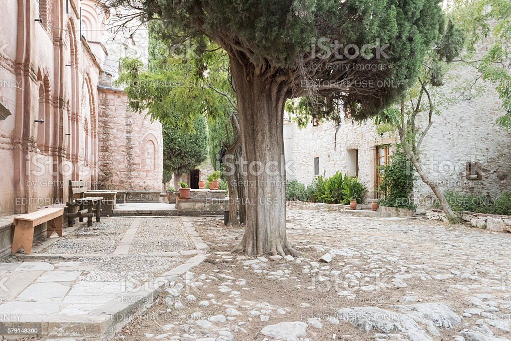 Nea Moni (New Monastery) of Chios Island in Greece stock photo