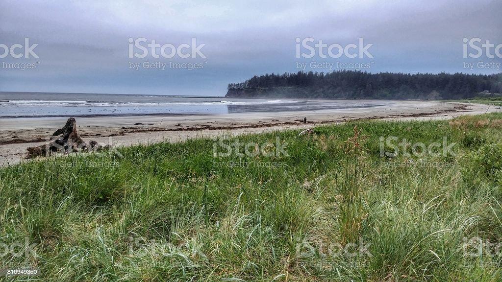 Neah Bay Beach, Makah Tribe, Washington Landscape stock photo