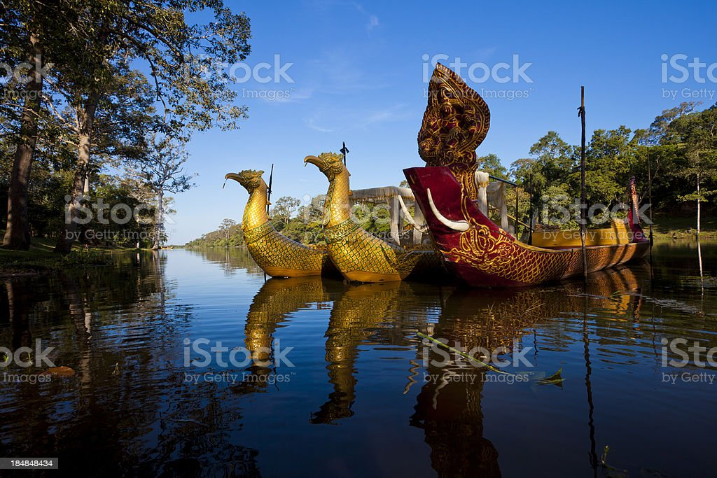 Neak Pean temple at Angkor in Cambodia stock photo