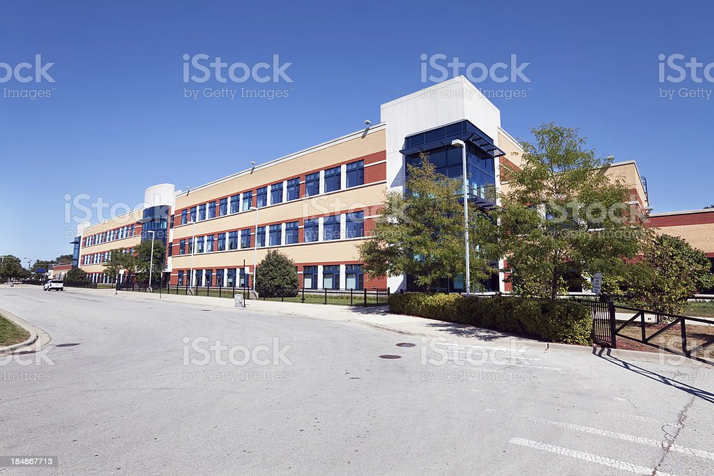 Neal F. Simeon Career Academy in Chatham, Chicago royalty-free stock photo