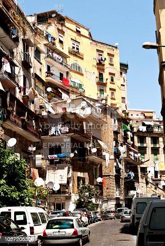 Straßenszene im Stadtviertel Santa Lucia, Neapel, Napoli, Kampanien, Campagna, Italien, Italia