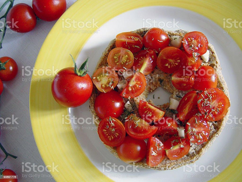 Napoletana piatto da sopra - foto stock