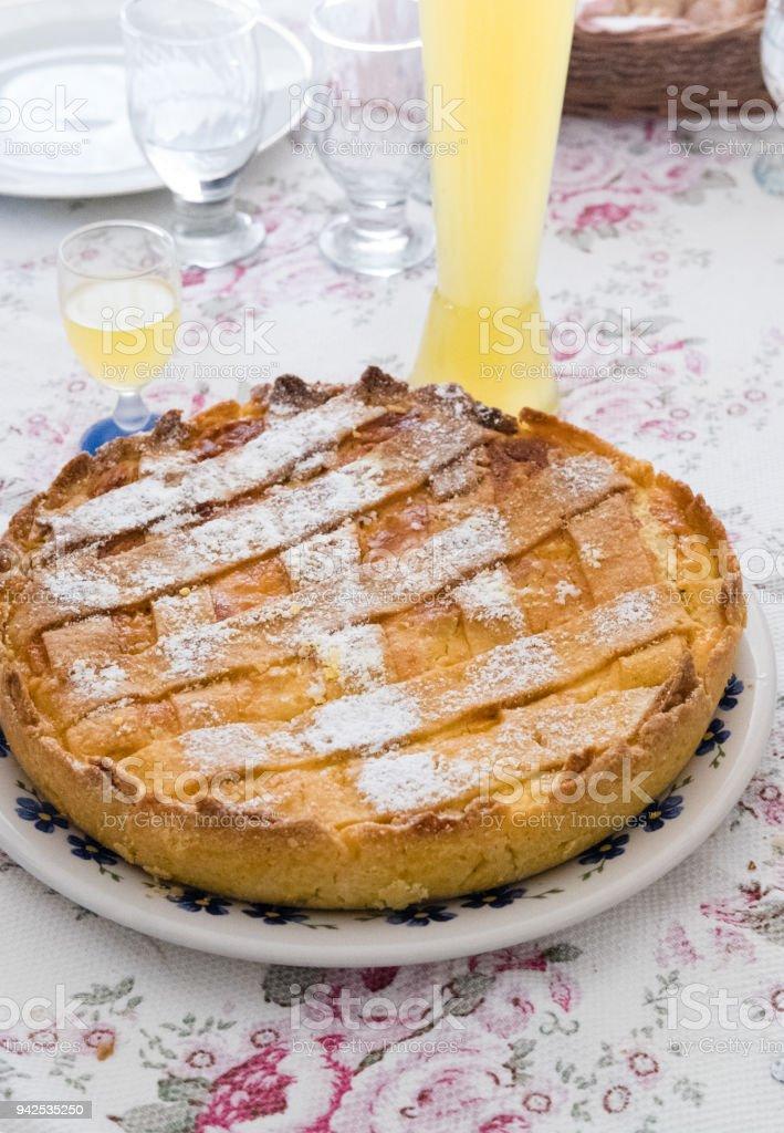 Neapolitan Easter Cake, Pastiera stock photo
