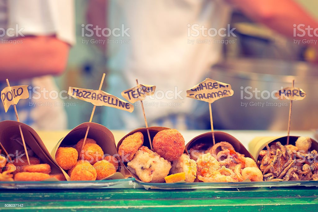 Neapolitan fast food stock photo
