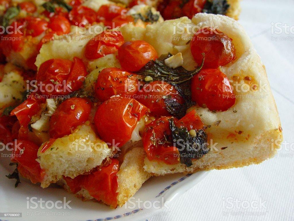 Neapolitan Pizza Homemade, Close-up royalty-free stock photo