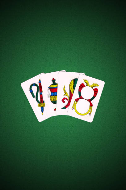 Neapolitan Scopa Briscola playing cards - foto stock
