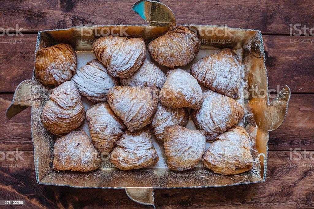Neapolitan Sfogliatelle - foto stock