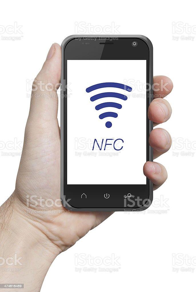 NFC cerca de campo de comunicación foto de stock libre de derechos