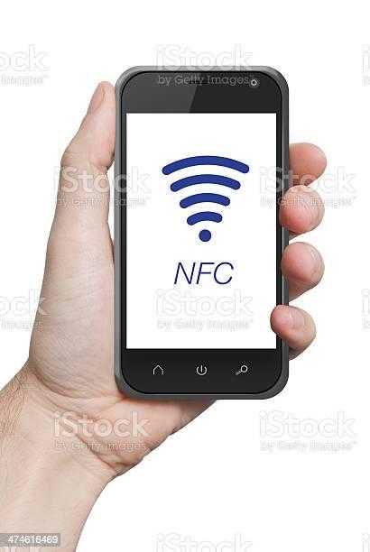 Nfc Cerca De Campo De Comunicación Foto de stock y más banco de imágenes de Comunicación
