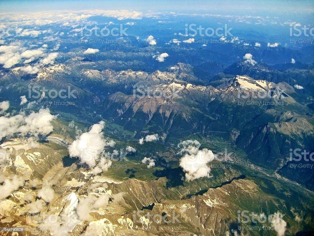 Near glacier Aletschgletscher - Bettmeralp stock photo