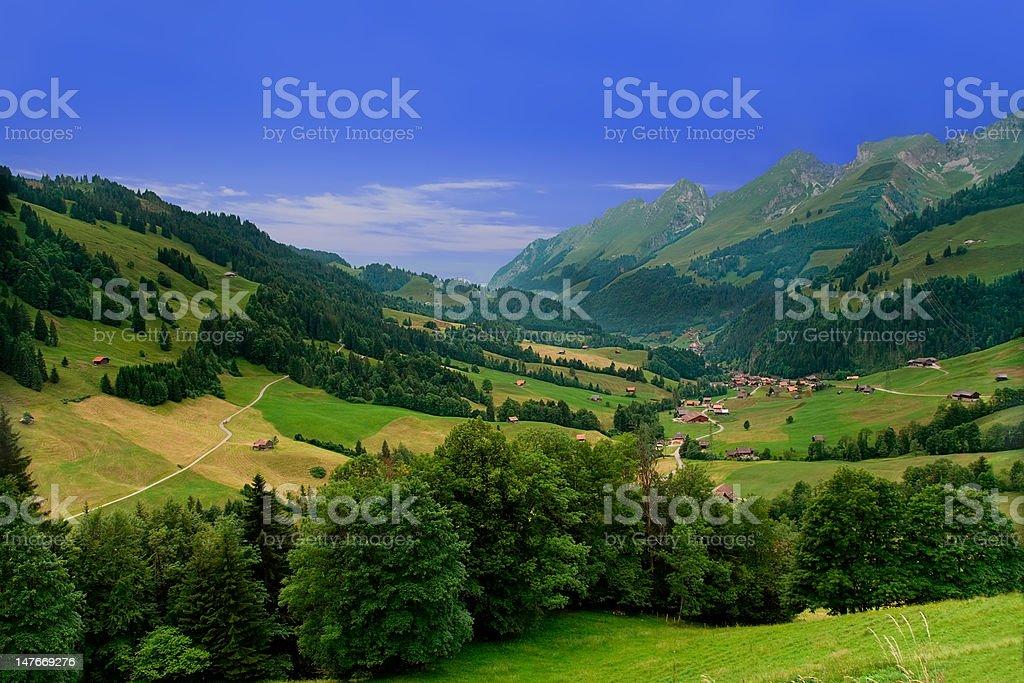 Near Gruyeres,  Canton of Fribourg, Switzerland royalty-free stock photo