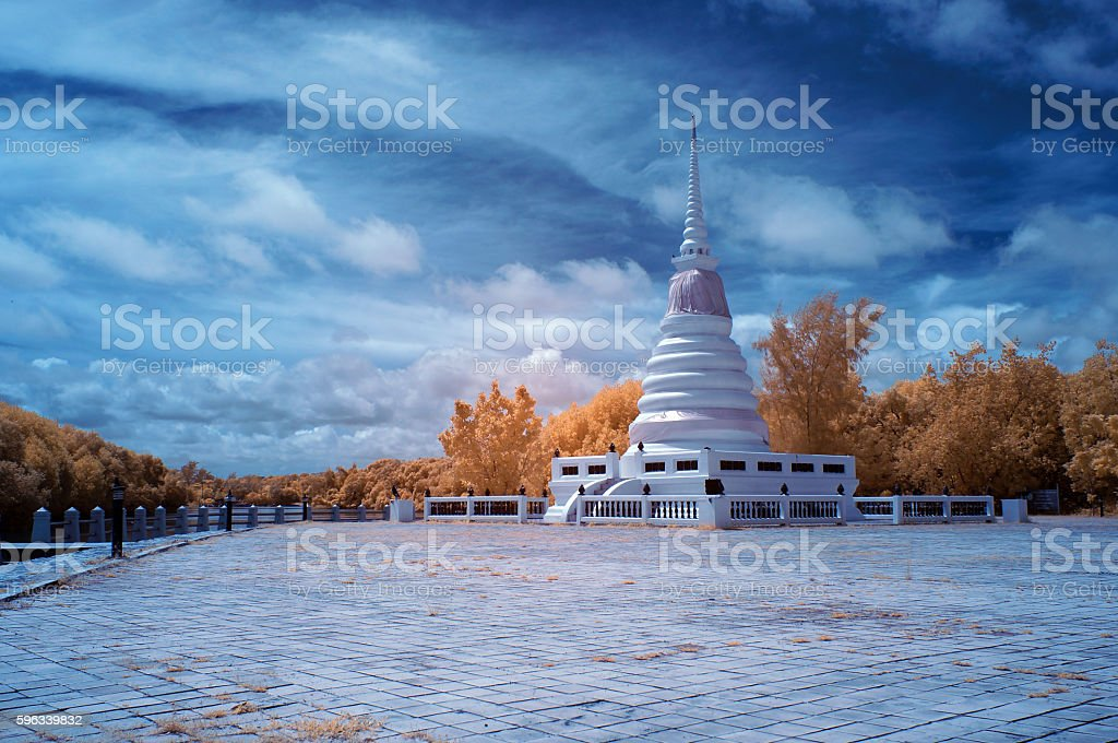 Near Infrared of Holy water tower A place of worship royalty-free stock photo