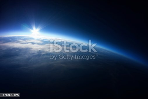 photo taken 20km above ground from automated weather ballon