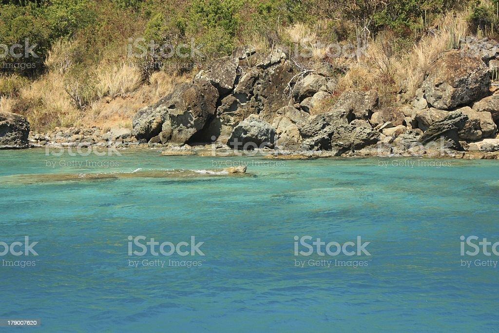 Near the Caribbean Island royalty-free stock photo