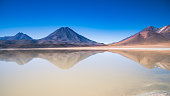 Lake and Mountains near Lascar Volcano