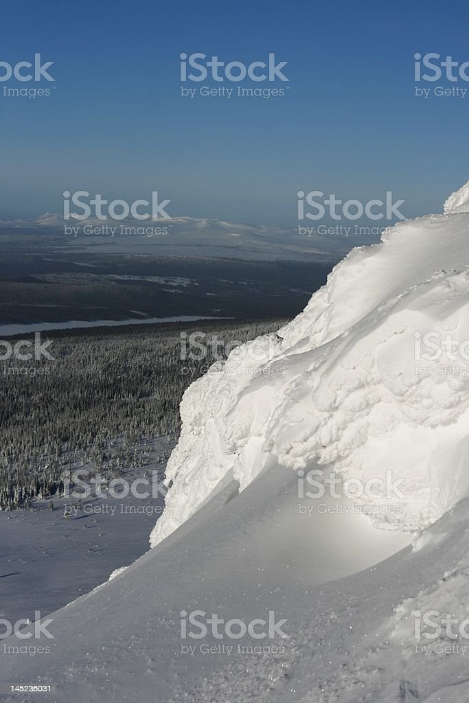 Near the summit stock photo