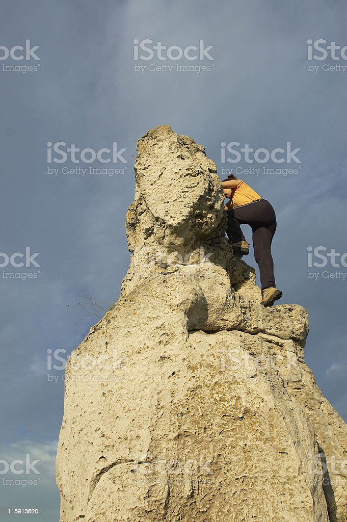 Near the top royalty-free stock photo