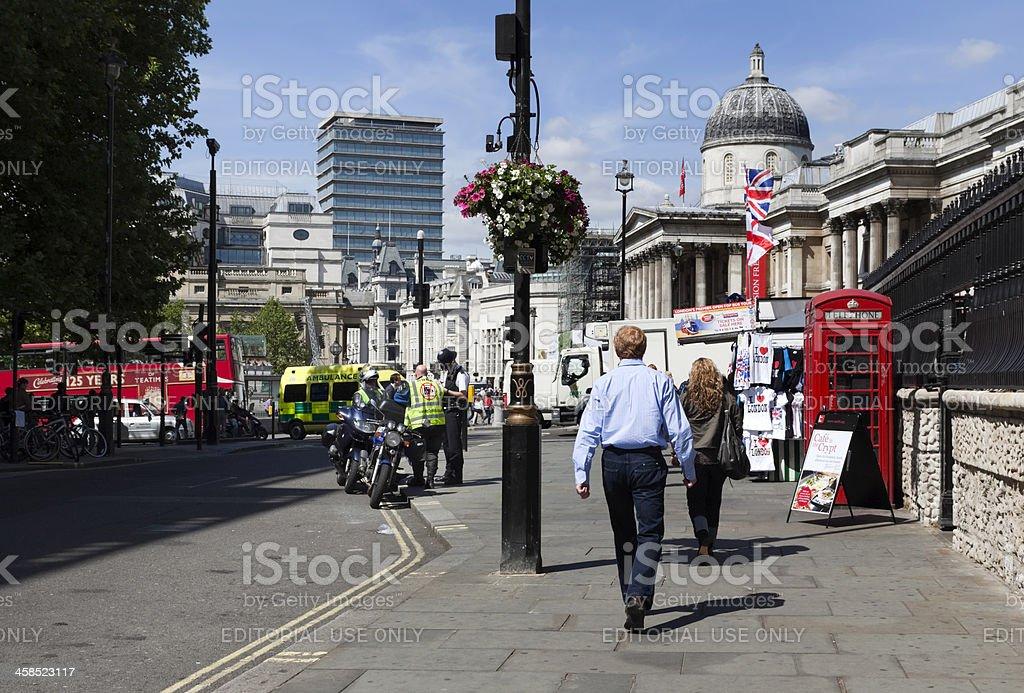 Near Trafalgar Square royalty-free stock photo