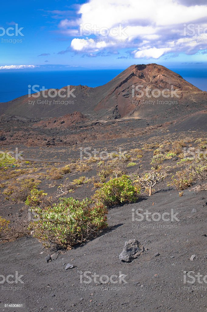 Nearby the Teneguia Volcano stock photo