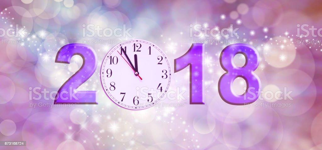 Nearly Happy New Year 2018 stock photo