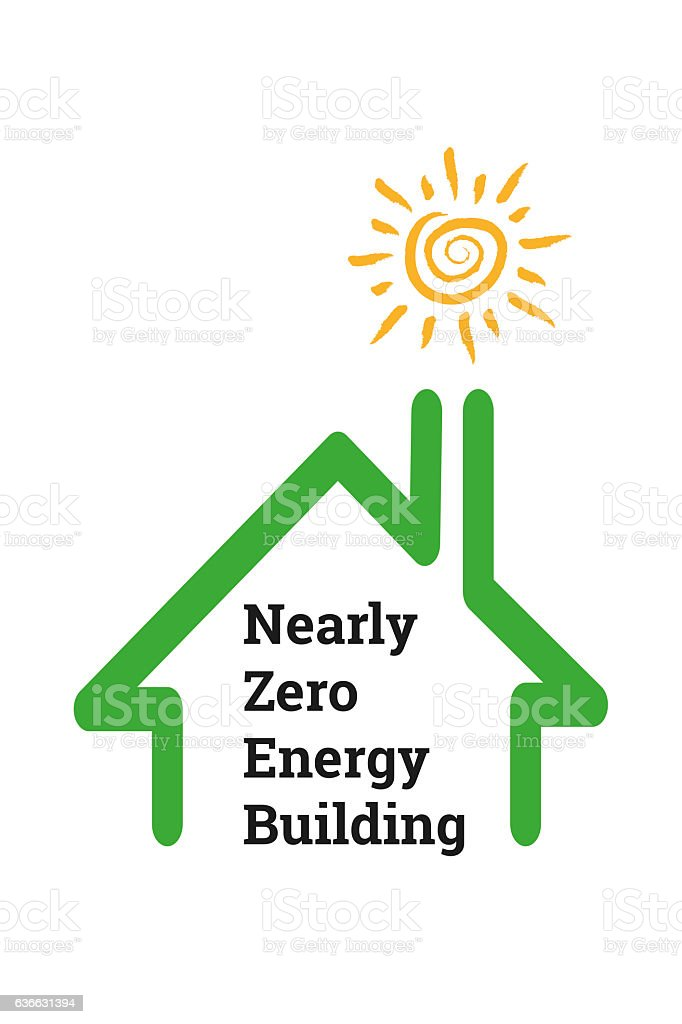 Nearly Zero Energy Building stock photo
