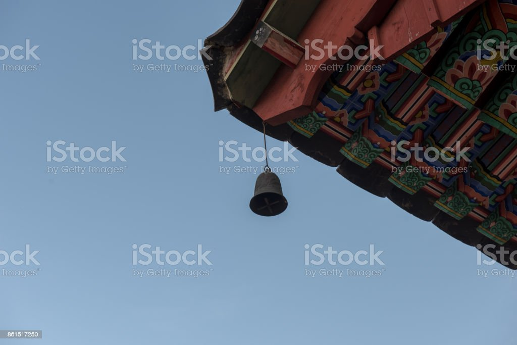 A neat bell of a temple stock photo
