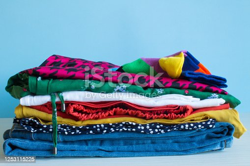 1146468307 istock photo A neat stack of folded multicolored underwear 1253115225
