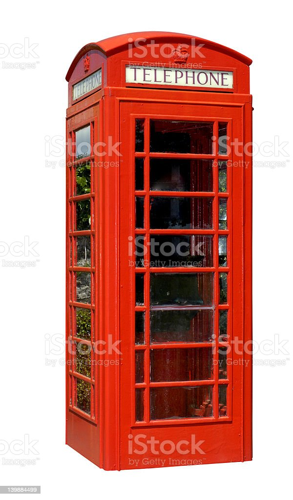 Neat telephone box (with clipping path) stock photo
