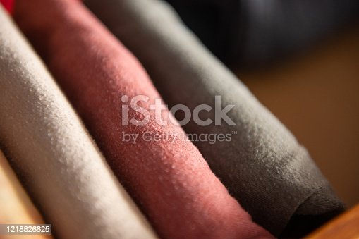 1164403364 istock photo Neatly Folded Organized T-Shirts in an Dresser Drawer at Home 1218826625