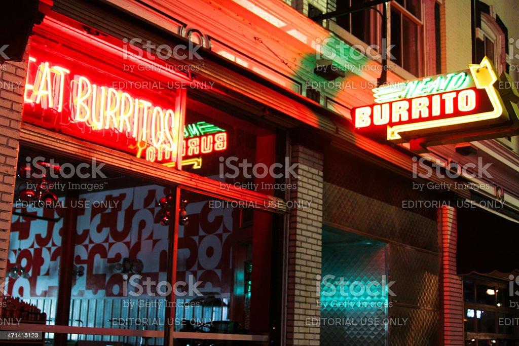 Neato Burrito stock photo