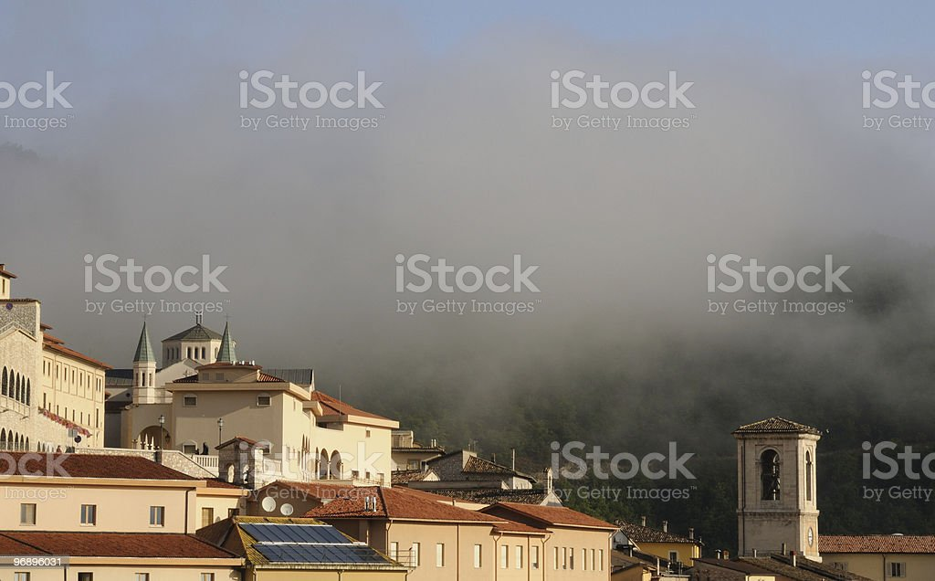 Nebbia in Umbria royalty-free stock photo