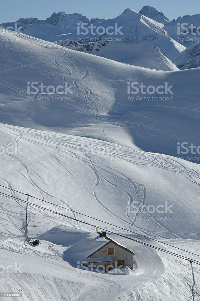 Nebelhorn ski resort in the Allgau Alps stock photo