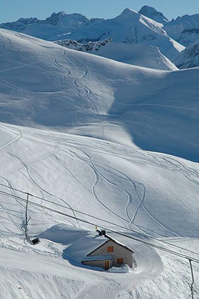 Nebelhorn ski resort in the Allgau Alps stock photo