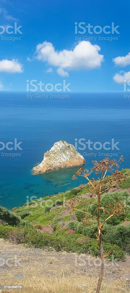 Nebida coastline stock photo