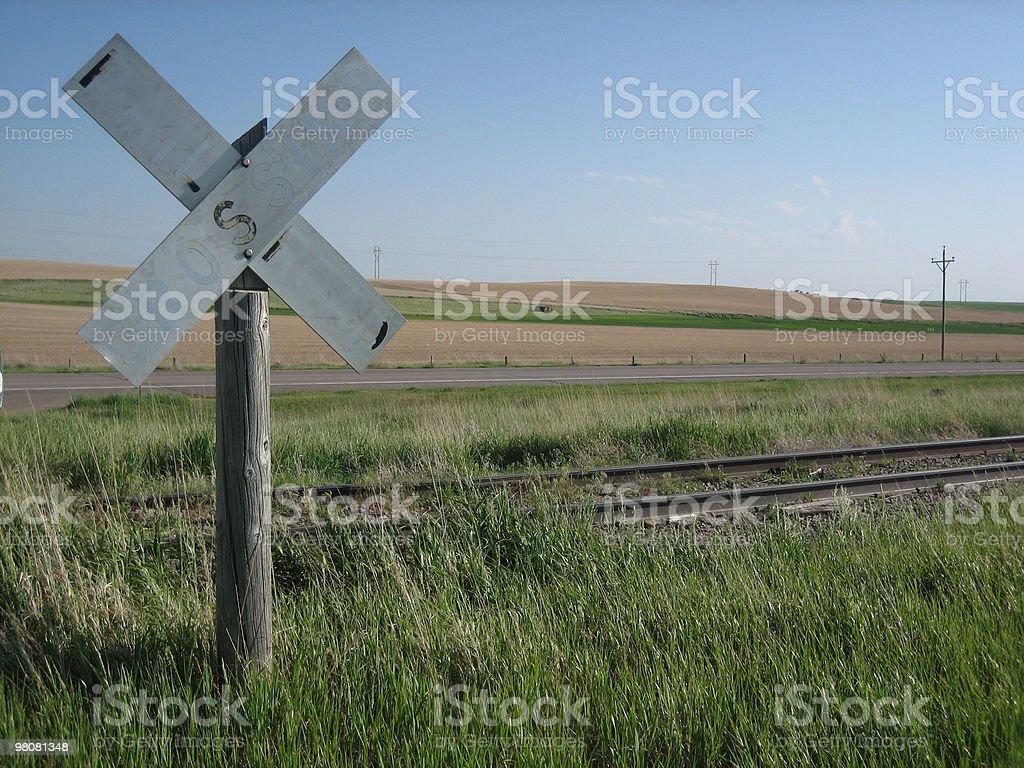 Nebraska Level Crossing royalty-free stock photo